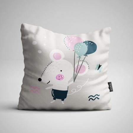 Fabric Pillow panel Gray