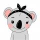 Tkanina Panel poduszka Koala Girl