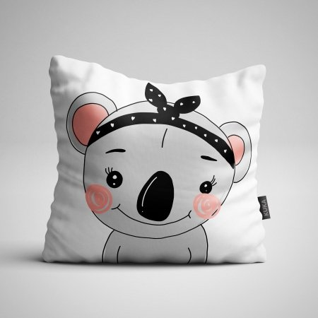 Fabric Pillow panel Koala Girl