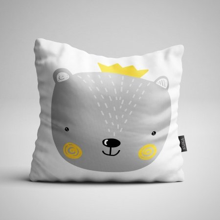 Fabric Pillow panel Bear Boy
