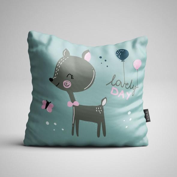 Fabric Pillow panel Fawn