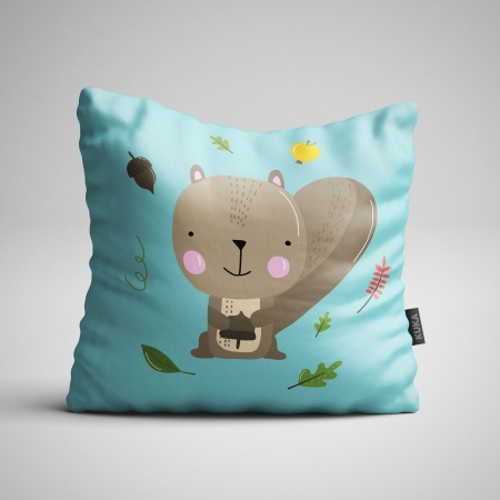 Fabric Pillow panel Squirrel