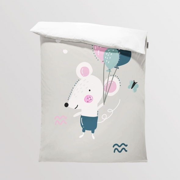 Fabric Bedding/Blanket Lovely Day - Mouse