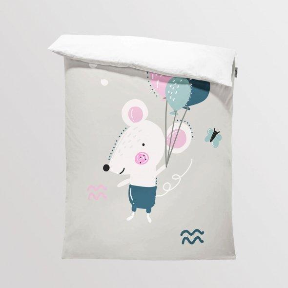 Tkanina Panel na Kocyk/Pościel Lovely Day - Myszka