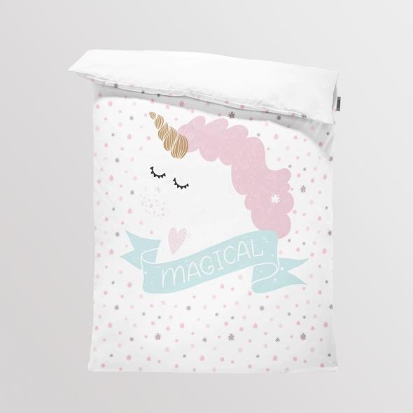 Fabric Bedding/Blanket Panel Magical Unicorn