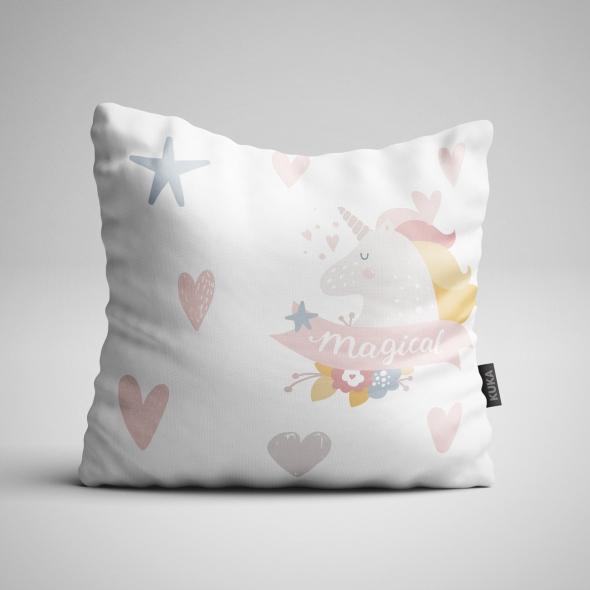 Fabric Pillow panel Magical Unicorn 2