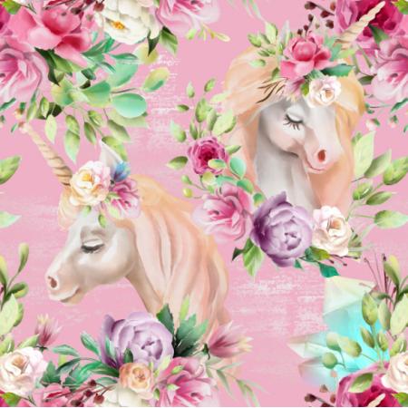 Fabric 13327 | floral unicorns