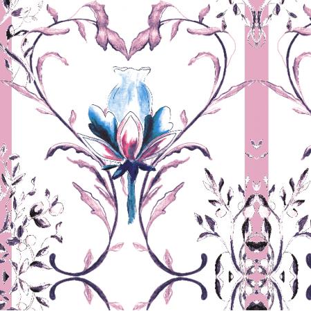 Fabric 13345 | Wzór ozdobny z motywem serca - seria 1