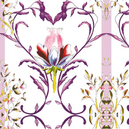 Fabric 13346 | Wzór ozdobny z motywem serca - seria 2