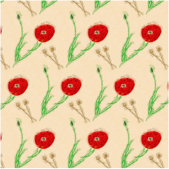 Tkanina 13361 | poppy