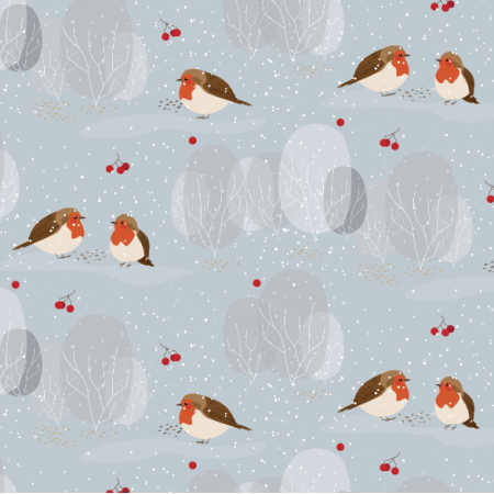 13363 | zimowe ptaszki | błękitne | MNIEJSZE