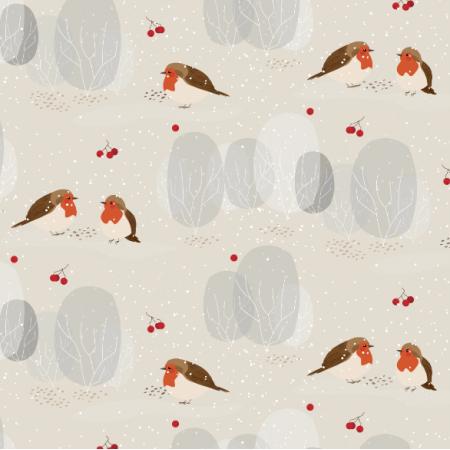 13365 | zimowe ptaszki | beżowe | MNIEJSZE