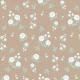 Fabric 13385 | White roses (beige background)