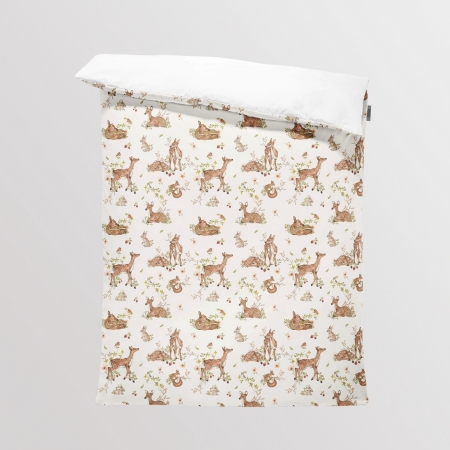 Fabric Bedding/Blanket Panel Roe-Deer - Light