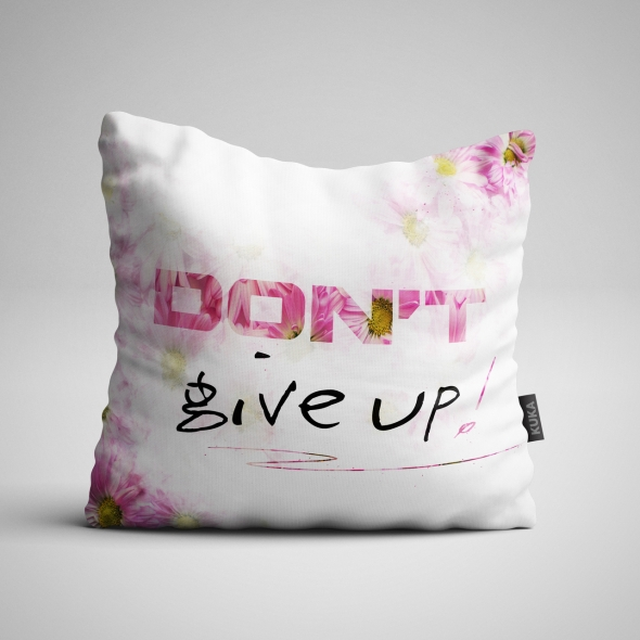 Fabric Pillow panel Don't give up