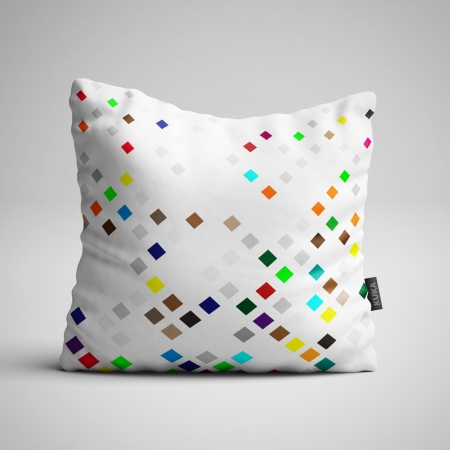 Tkanina Panel poduszka Kwadraty