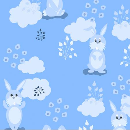Fabric 13466 | Funny bunny