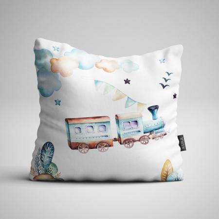 Tkanina Panel poduszka Boys World - Pociąg