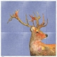 Fabric Pillow panel Jeans Deer