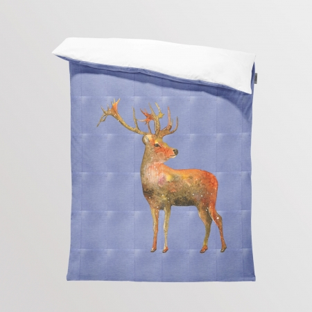 Fabric Bedding/Blanket Panel Jeans Deer