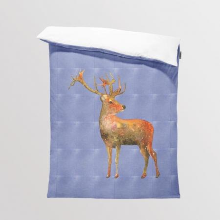 Tkanina Panel na Kocyk/Pościel Jeans Deer