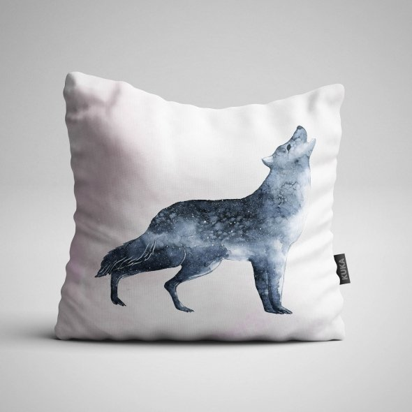 Fabric Pillow panel Wolf Dream