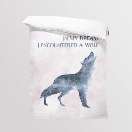 Tkanina Panel na Kocyk/Pościel Wolf Dream