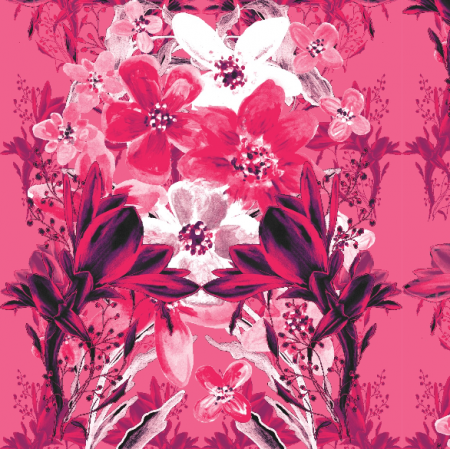 Fabric 13534 | Kwiatowy różowy bukiet