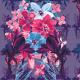 Fabric 13535 | Kwiatowy niebiesko-róŻowy bukiet