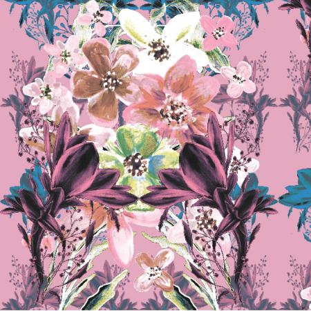 Fabric 13536 | Kwiatowy bukiet w kolorach pastelowych