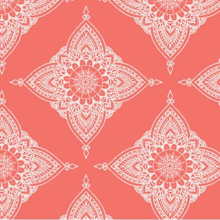 Fabric 13568 | Boho - living coral