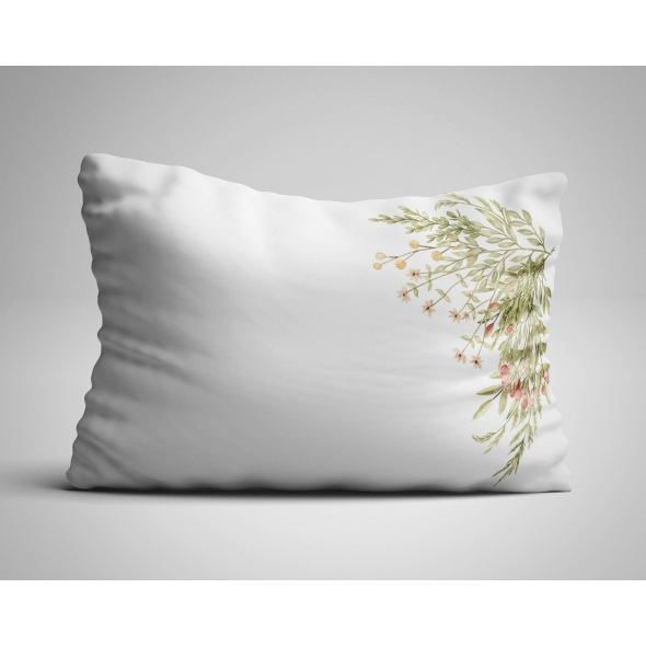 Fabric Pillow panel Forest Flowers