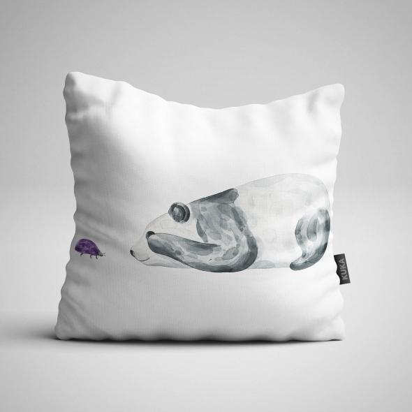 Fabric Pillow panel Panda