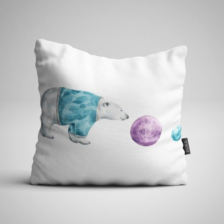 Fabric Pillow panel Polar Bear