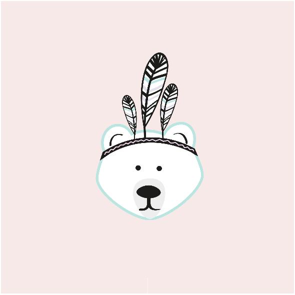 Tkanina 13685 | bear girl