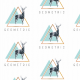 Fabric 13686 | geometric deer