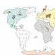Fabric 13687 | mapa świata