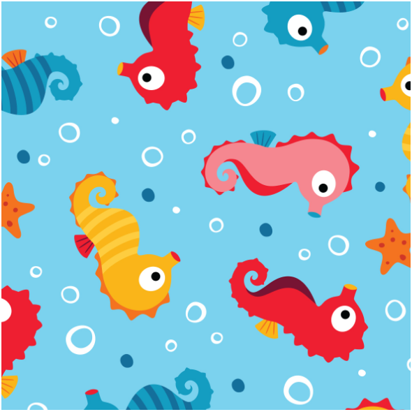 Fabric 13763 | Seahorses