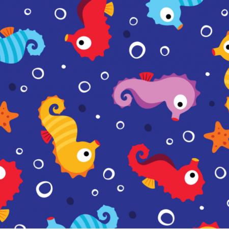 Fabric 13765 | SEAHORSES