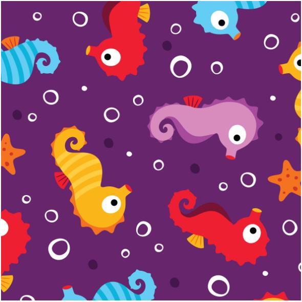 Fabric 13766 | SEAHORSES