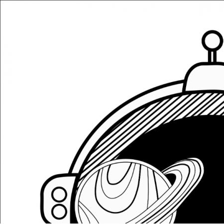 Fabric 13820 | kosmonauta 48cm