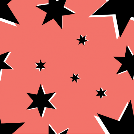 Fabric 13849 | Stars on Living coral