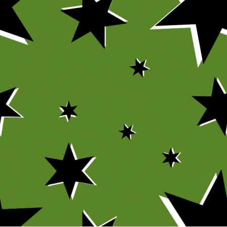13850 | Stars on green