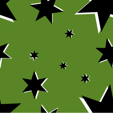 Fabric 13850 | Stars on green