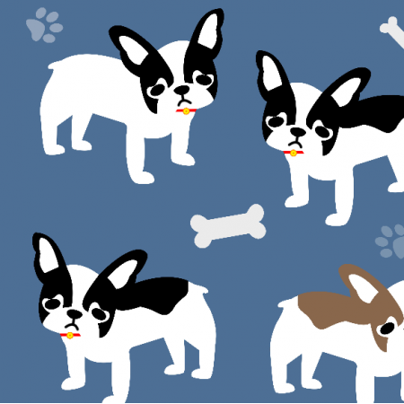 Tkanina 13851 | Puppies on brittany Blue