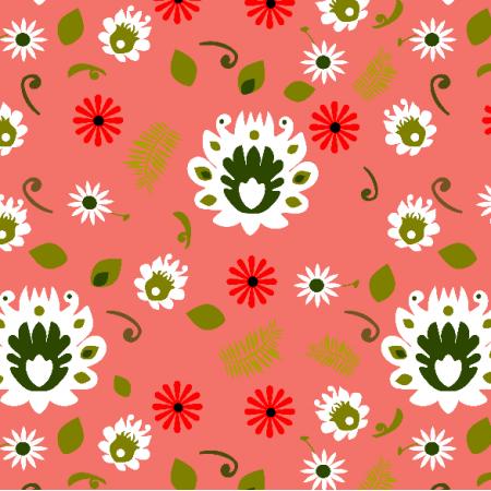 Fabric 13883 | Folk na Living Coral