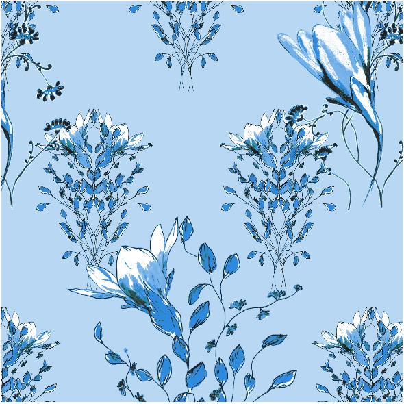 Fabric 13950 | Kwiatowe inspiracje - seria 2