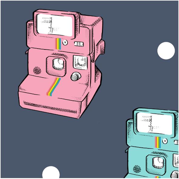Tkanina 14013 | polaroid
