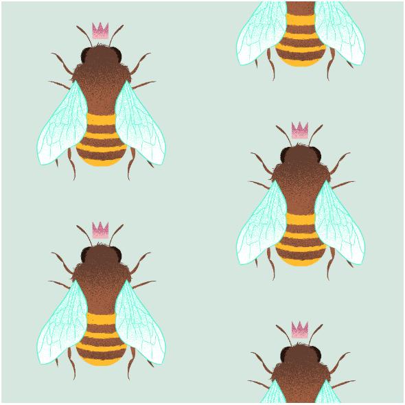 Fabric 14014 | pszczółka