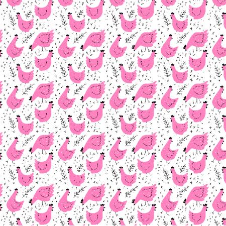 14026 | Tkanina w kury - wersja różowa01